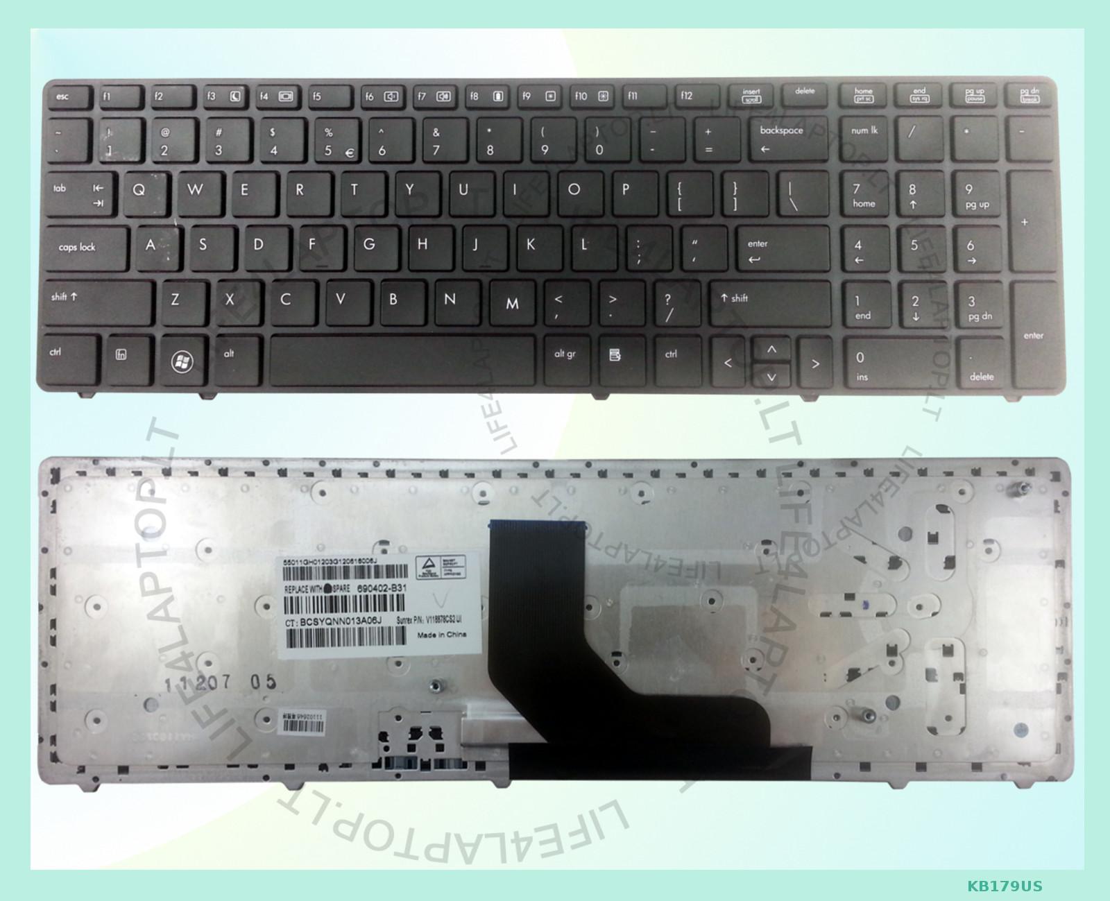 new black us layout laptop keyboard for hp elitebook 8560p